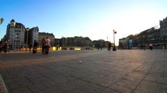 Keleti palyaudvar square in Budapest Stock Footage