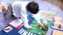 Child in primary school Stock Footage