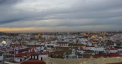 Seville sunset panoramic view 4k spain Stock Footage