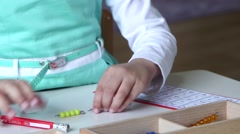 Child in primary school - stock footage