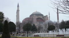 Hagia Sophia day, snowing, prayers - Istanbul Stock Footage