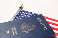 Stock Photo of A horizontal image of an American passport