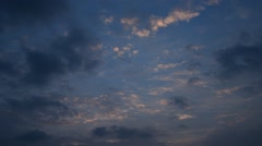 Sunset sky in winter, Thailand - stock footage