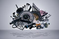 New spare parts Stock Illustration