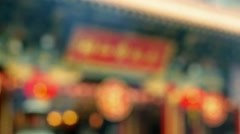 wong tai sin temple chinese new year - stock footage