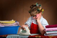 Ironing boring - stock photo