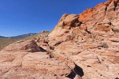 View of Mojave Desert. - stock photo