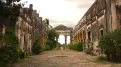 Stock Video Footage of Mexican colonial building