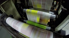 4k Newspapers print line in a factory, uhd stock video Stock Footage