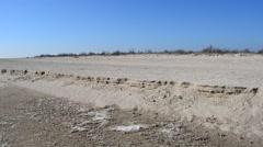 Indistinct sand on a beach Stock Footage