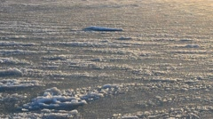 Ice floe and sunset - stock footage
