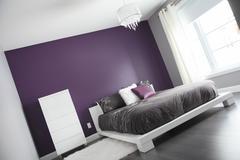 A Modern bedroom interior in a house Stock Photos