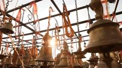 Temple Bells Stock Footage