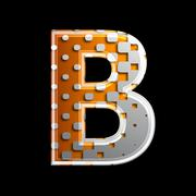 Stock Photo of halftone 3d letter - B