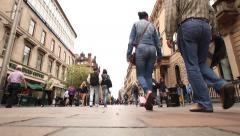 Glasgow street pedestrians time lapse - stock footage