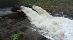 Flood Water Drainage Stock Footage