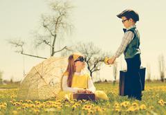 Little romance Stock Photos