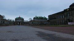 Stormclouds over the Zwinger in Dresden Stock Footage