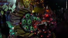Chinese dragon, Chinese New Year, shows, performances, Ritual, Holiday, Travel Stock Footage