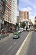 Villazon Avenue and Plaza del Estudiante in La Paz, Bolivia Stock Photos
