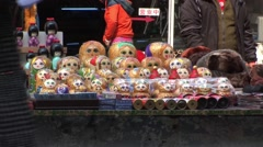Russian Dolls being sold in China Stock Footage