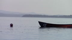 Native American canoe, Cortes Island, Vancouver Island, British Columbia, Canada Stock Footage
