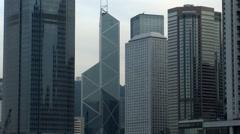 Hong Kong Bank of China Tower Stock Footage
