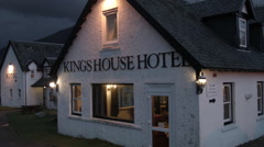 King's House Hotel Scotland Highlands Historic, Establishing shot Stock Footage