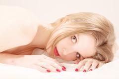Pretty naked woman Stock Photos