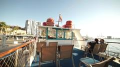 Sightseeing boat in Malaga Stock Footage