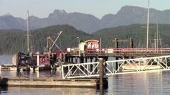 Coastal Mountains, Desolation Sound, Cortes Island, British Columbia, Canada Stock Footage