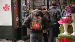 Typical News Agent's Shop Bucharest Romania Stock Footage