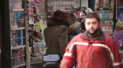 Newsstand Revenue Plunging Bucharest Romania - stock footage