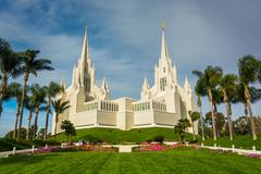 The Church of Jesus Christ of Latter-Day Saints Temple in San Diego, Stock Photos