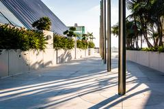 Walkway at the Convention Center in San Diego, California. - stock photo