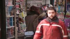Newsstand Revenue Plunging Bucharest Romania Stock Footage