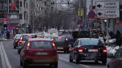Despite Neighboring Ukraine Russia War Life Goes Normally Bucharest Romania Stock Footage