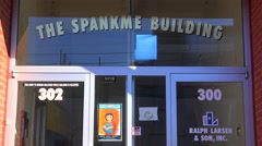 An establishing shot of the strangely named Spankme Building in Palo Alto, Stock Footage