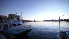 Port Malaga in the evening Stock Footage