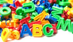 Colorful alphabet Stock Photos