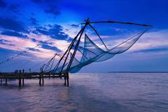 Chinese fishing net Stock Photos