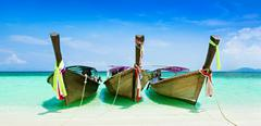 Longtail boats Stock Photos