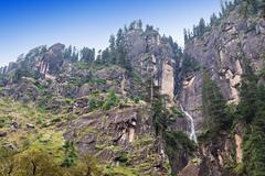 Jogini waterfall, Manali - stock photo