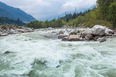 Beas river, Manali - stock photo