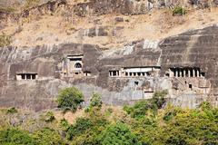 Ajanta caves, India Stock Photos