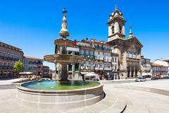 Toural Square, Guimaraes - stock photo
