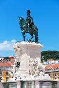 Stock Photo of Commerce Square is located in the city of Lisbon, Portugal