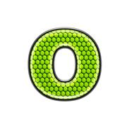 Abstract 3d letter with reptile skin texture - O Stock Photos
