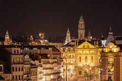 City center night view - stock photo