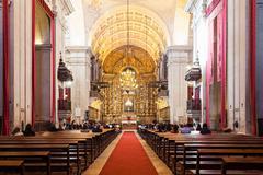 Church of Sao Salvador - stock photo